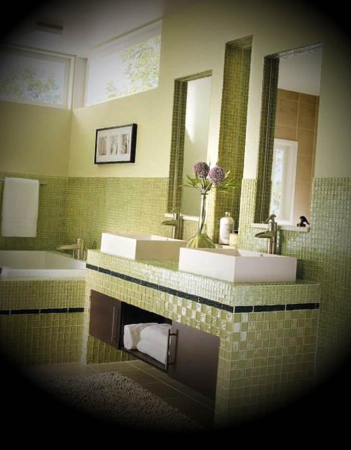 Banheiro Pequeno em Tons Verdes