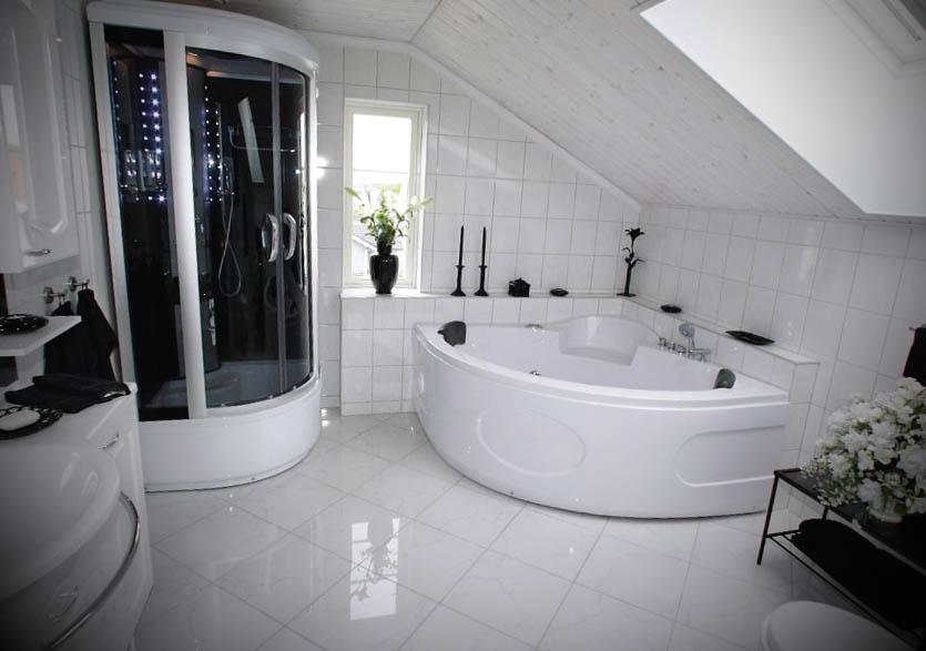 Banheiros Grandes Banheira Interior e Design