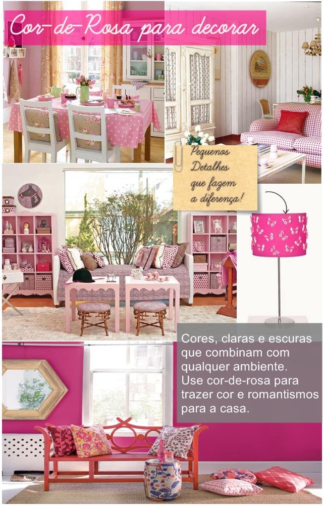 Cor de rosa para decoracao