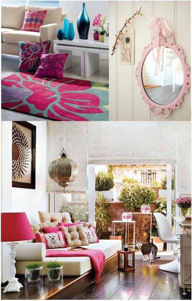 Cor de rosa para decorar