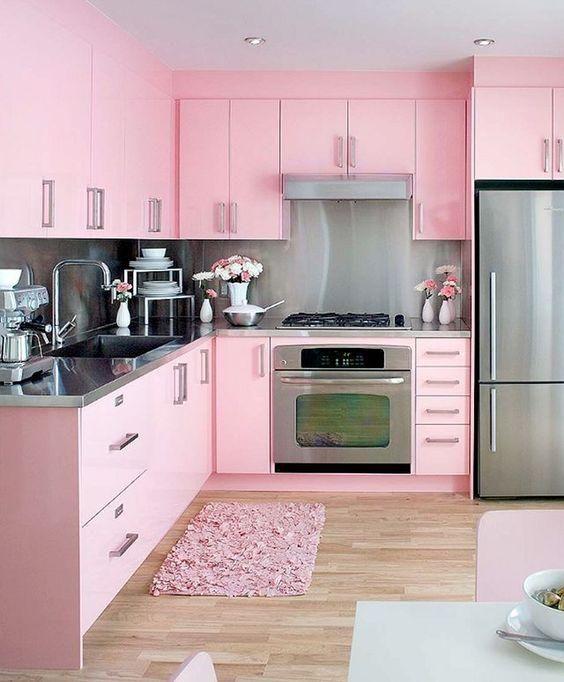Cozinha Cor de Rosa Dicas Ideias 1