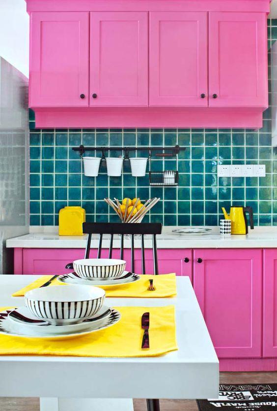 Cozinha Cor de Rosa Dicas Ideias 11