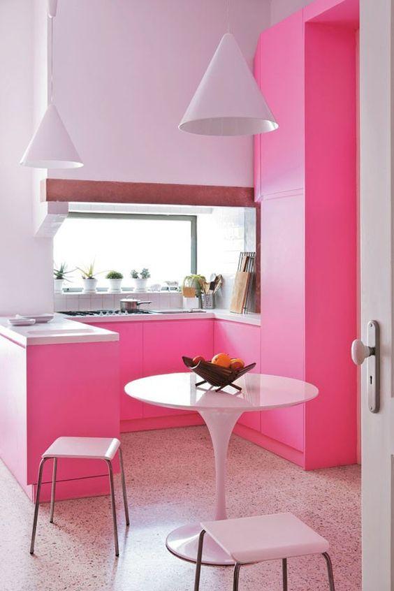 Cozinha Cor de Rosa Dicas Ideias 12