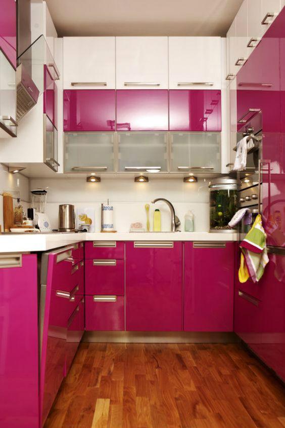 Cozinha Cor de Rosa Dicas Ideias 13