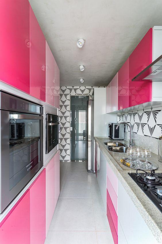 Cozinha Cor de Rosa Dicas Ideias 15