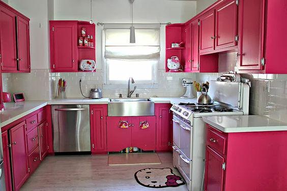 Cozinha Cor de Rosa Dicas Ideias 2