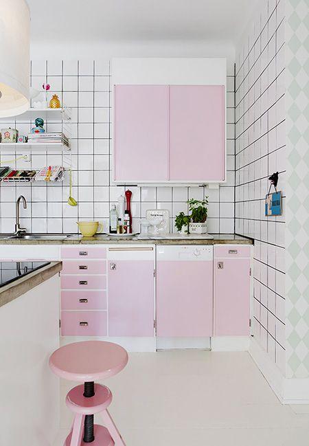 Cozinha Cor de Rosa Dicas Ideias 5