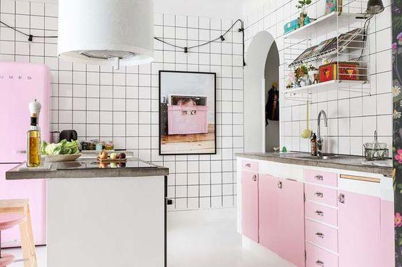 Cozinha Cor de Rosa Dicas Ideias 7
