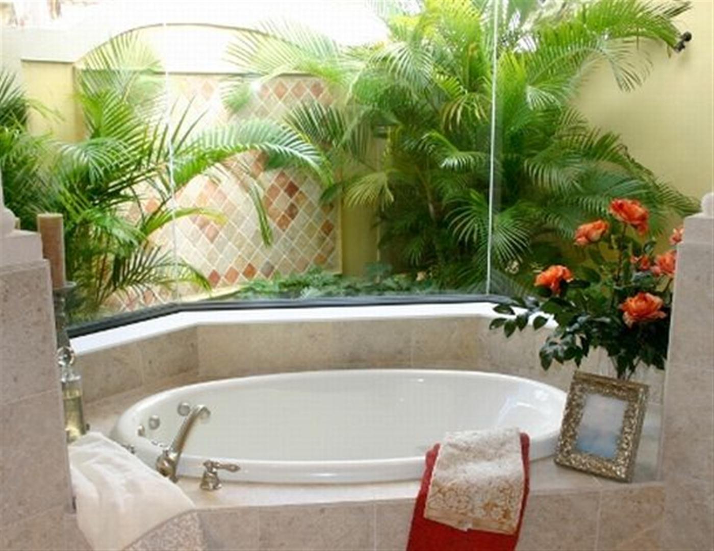 Decoração de banheiros com plantas