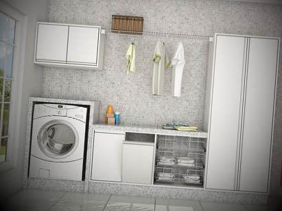 Decoração de lavanderia pequena1