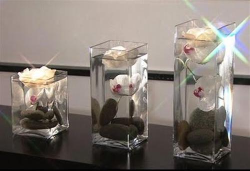 Decoração vasos de vidro