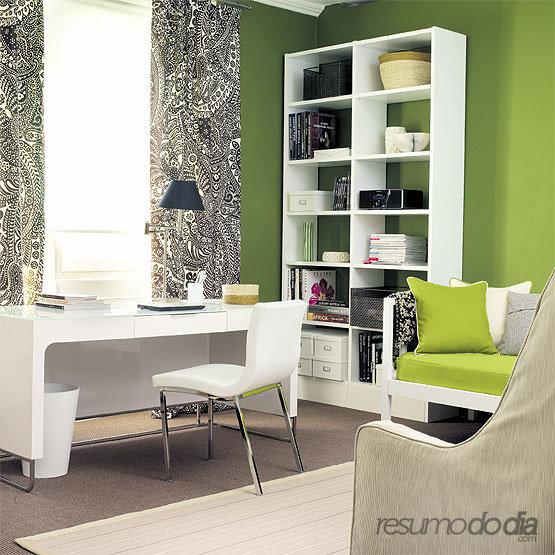 Ideias para decorar um escrit rio pequeno - Decorar despacho pequeno ...