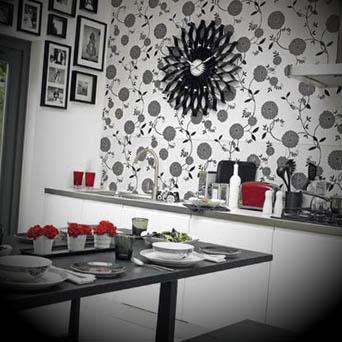 Decoracao de cozinhas com papel de parede
