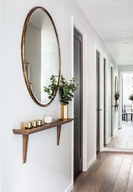 Decoracao espelhos parede madeira