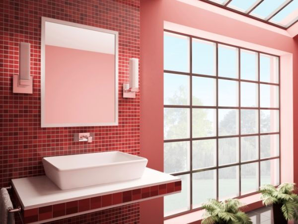 Dicas de Decoração de Banheiro com Pastilhas Vermelhas