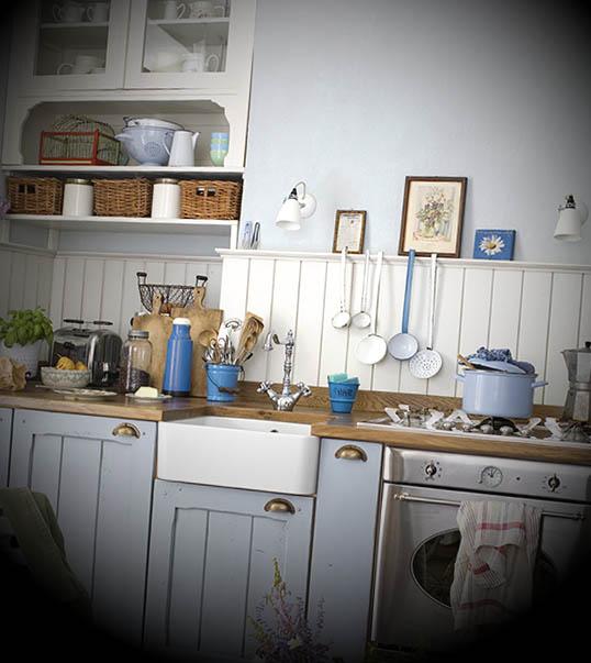 EstiloShabbyChicCharme na cozinha