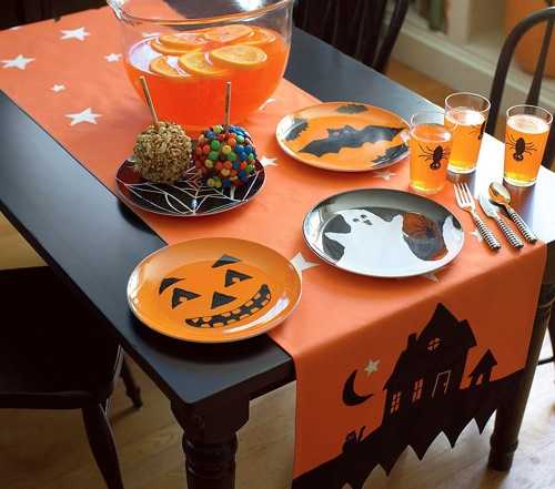 Halloween runner at Pottery Barn Kids