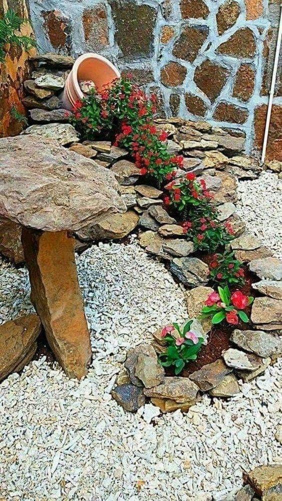 Ideias Jardins Pequenos Pedras 10