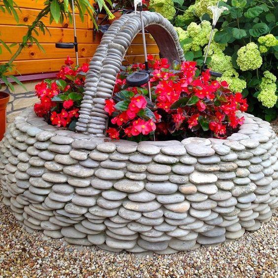 Ideias Jardins Pequenos Pedras 14
