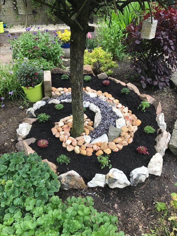 Ideias Jardins Pequenos Pedras 17