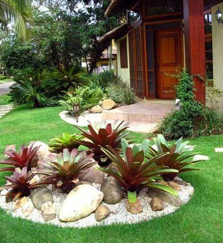Ideias Jardins Pequenos Pedras 4
