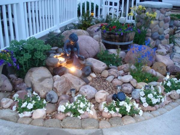 Ideias Jardins Pequenos Pedras 6