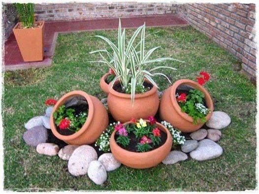 Ideias Jardins Pequenos Pedras 9