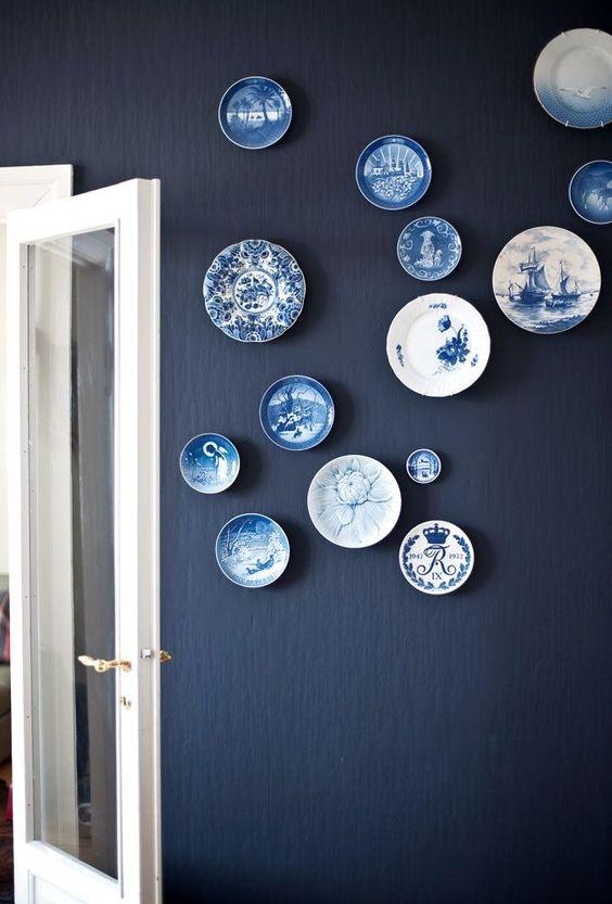 Ideias decoração pratos painel