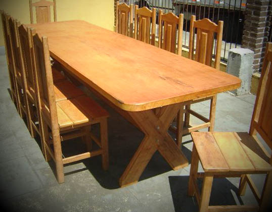 Mesas de madeira