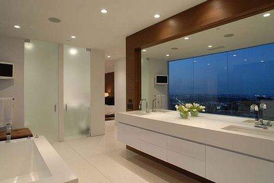 Porcelanato chão do banheiro