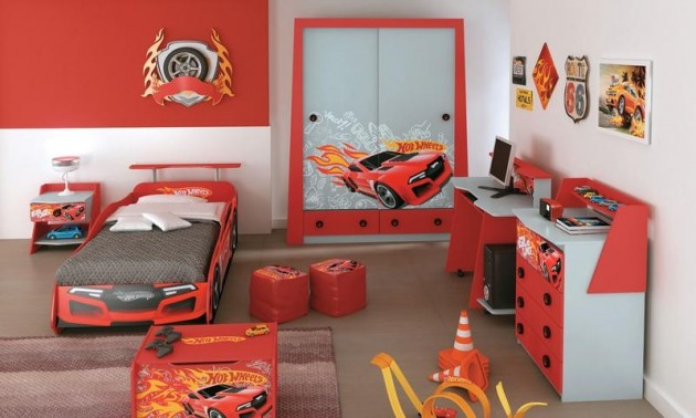 Quarto Juvenil Hot Wheels