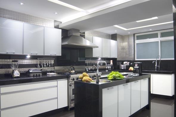 a cozinha decorada