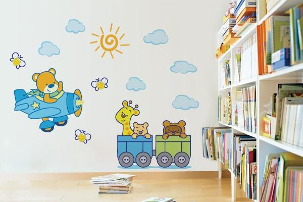 Aparador Pelos Nariz ~ Ideias de adesivos decorativos para quarto de bebé