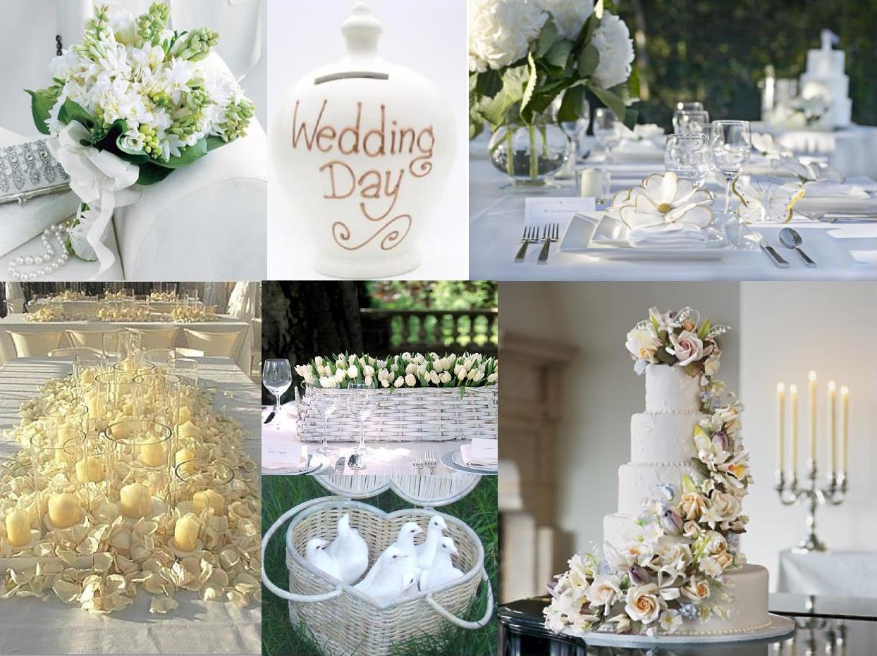 all white wedding decoration
