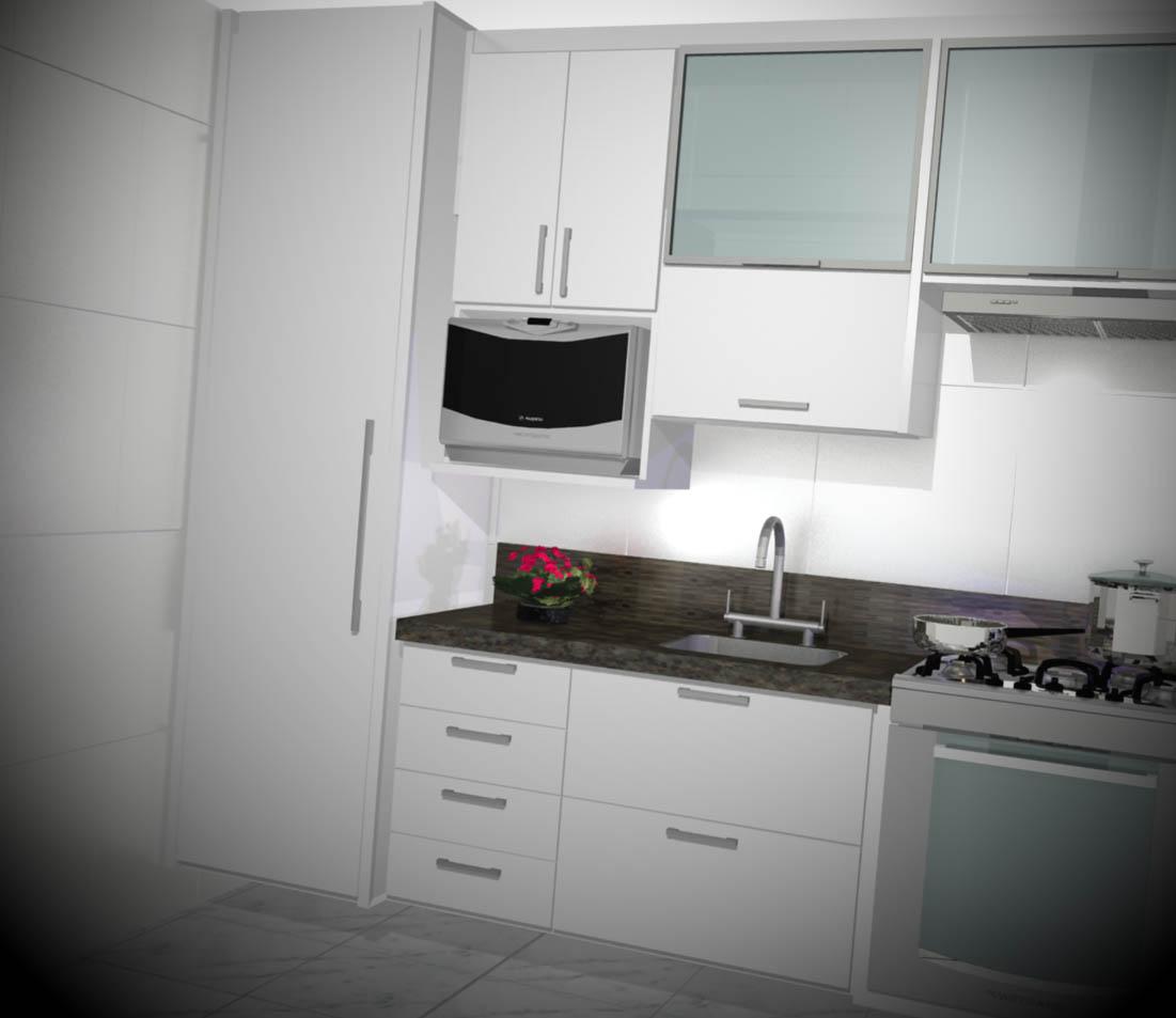 apartamento pequeno cozinha planejada