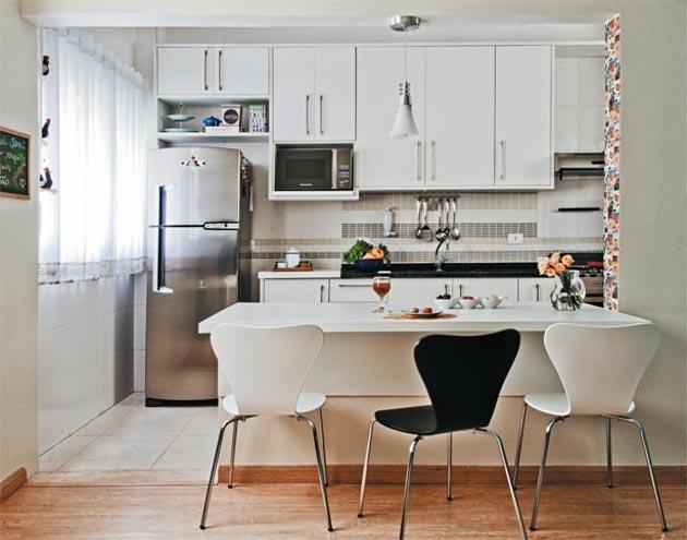 apartamentos pequenos cozinha decorada