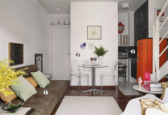 Ideias para decorar apartamentos pequenos for Imagenes de apartamentos pequenos