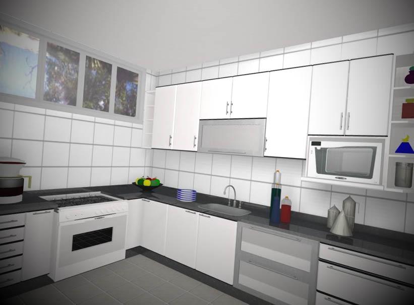 armario de cozinha planejado branca