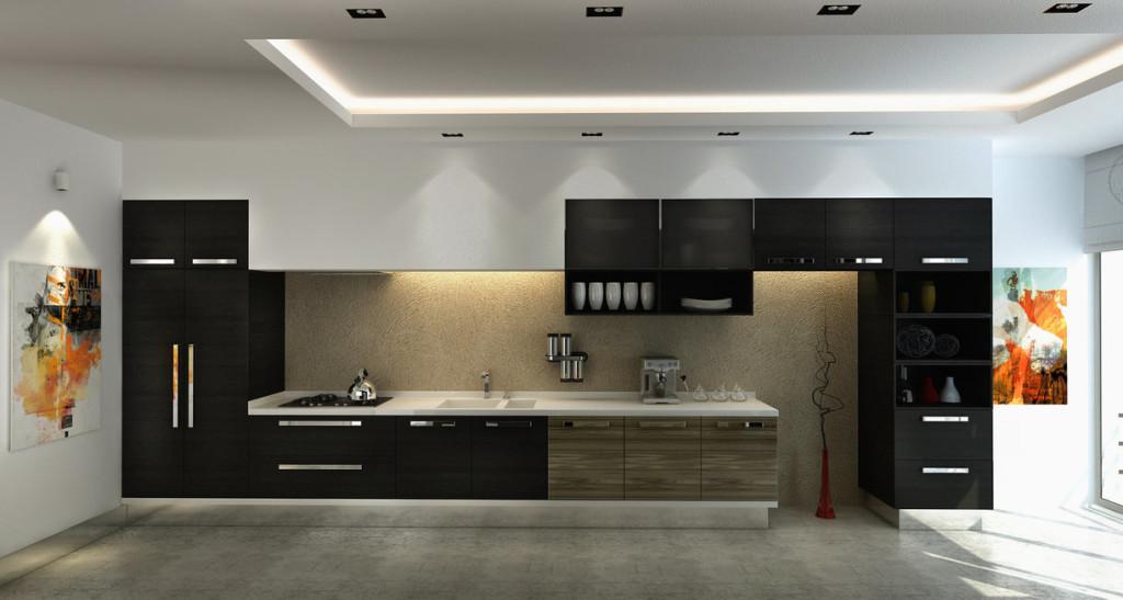 armarios de cozinha em preto