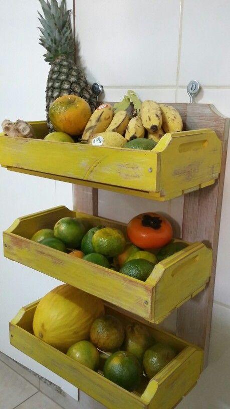 armazenar produtos frescos cozinha gavetas madeira