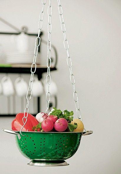 armazenar produtos frescos cozinha suspensa ideias