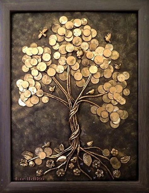 artesanato criativo com moedas 7