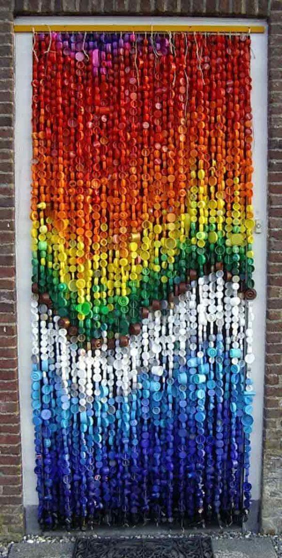 artesanato tampa garrafa cortina