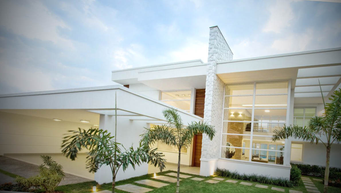 Fachadas de casas de luxo for Modelos de fachadas para frentes de casas