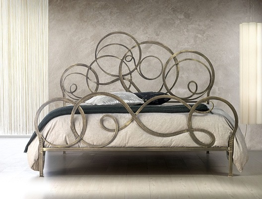 azzurra beds decorated with geometrical patterns