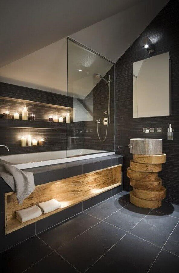 banheiro cinza madeira 4