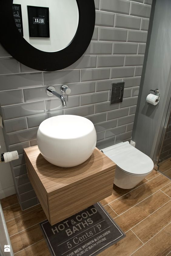 banheiro cinza pequeno