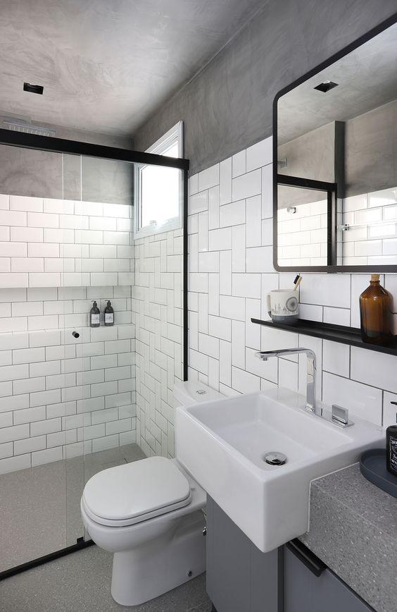 banheiro cinza preto 1