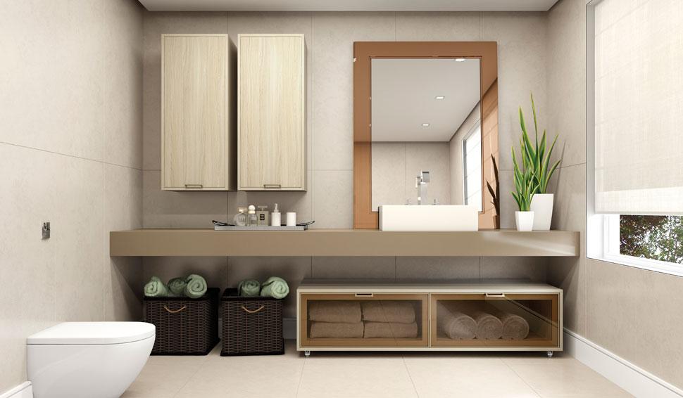 banheiro com móveis planejados sob medida