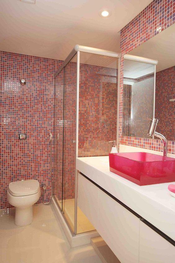 banheiro cuba colorida acrilico